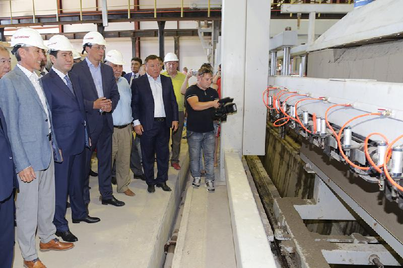 Новый завод стройматериалов в Темиртау стал подарком ко Дню столицы