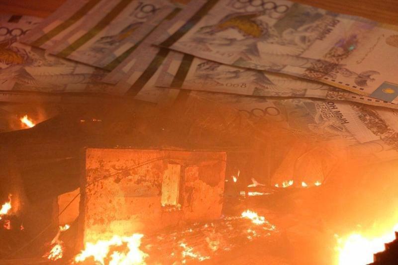 Жильцам сгоревших домов в Туздыбастау окажут материальную помощь