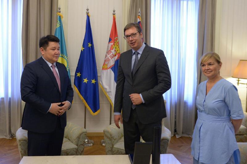 Посол Казахстана встретился с президентом Сербии