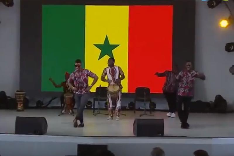 «Қара жорға» на ЭКСПО-2017 станцевали африканцы