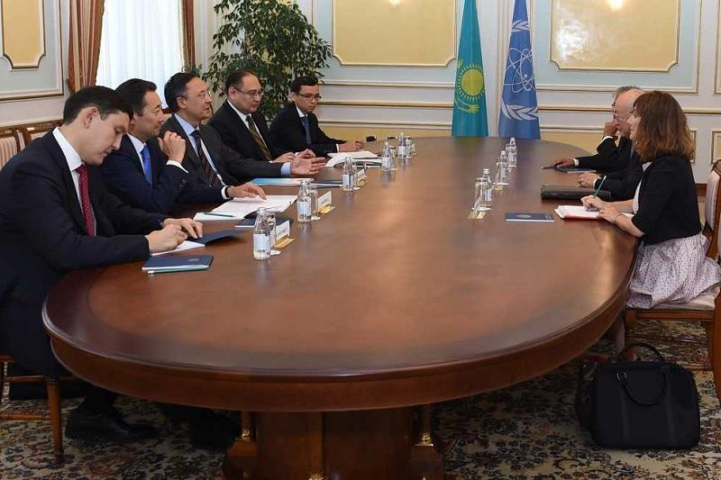 Kazakh FM, IAEA LEU Bank director discuss Bank's functioning