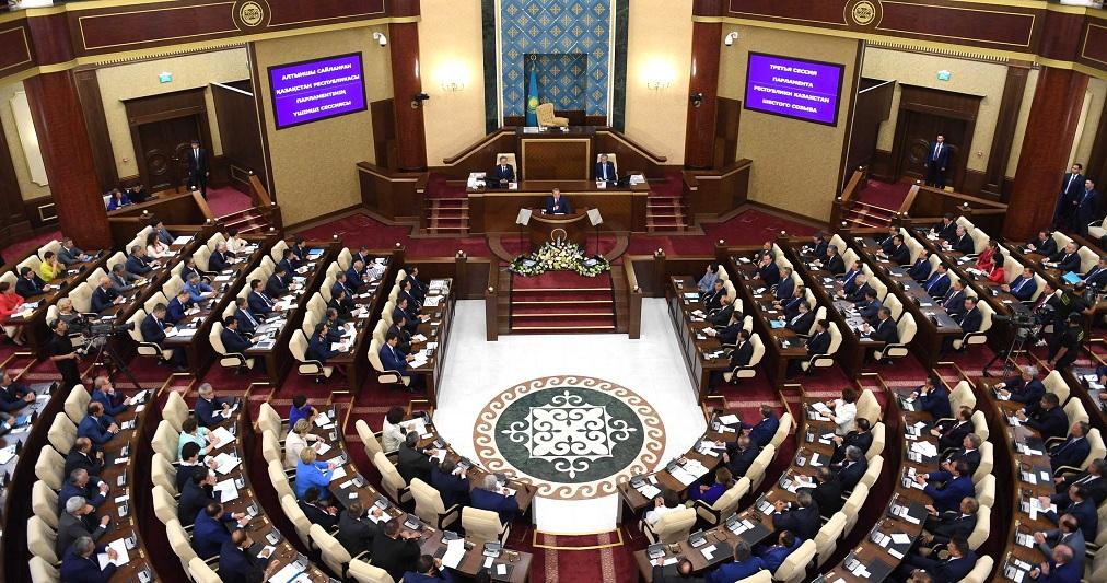 Выступление Нурсултана Назарбаева на открытии третьей сессии Парламента РК шестого созыва