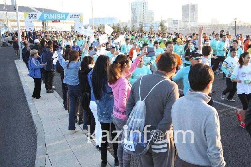 4,5 тыс. участников принимают участие в Астанинском марафоне