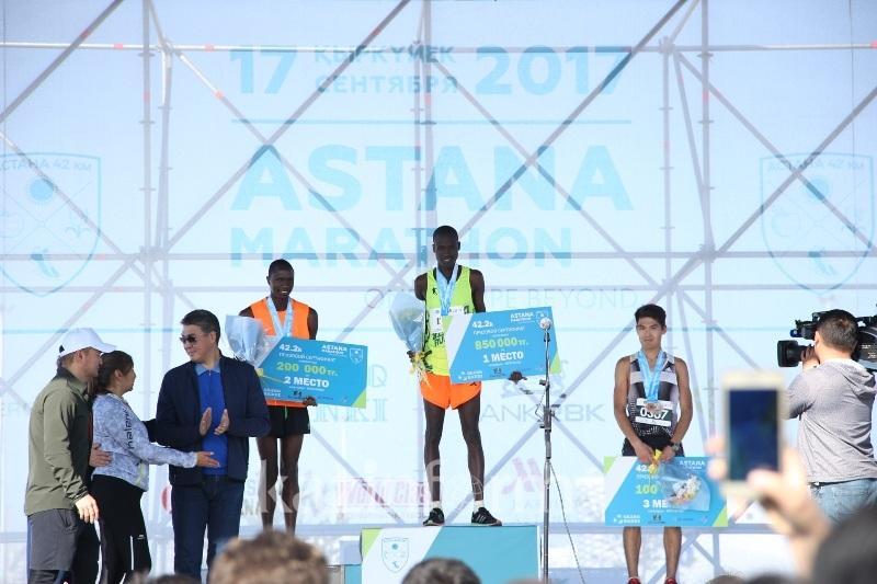 40-километровку Astana Marathon первым преодолел кениец