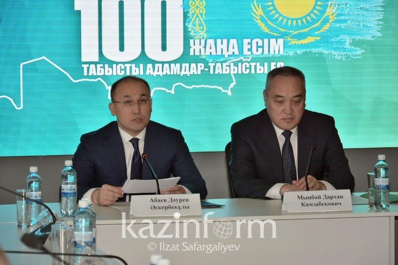 Interim results of voting for 100 new faces of Kazakhstan in - Abayev