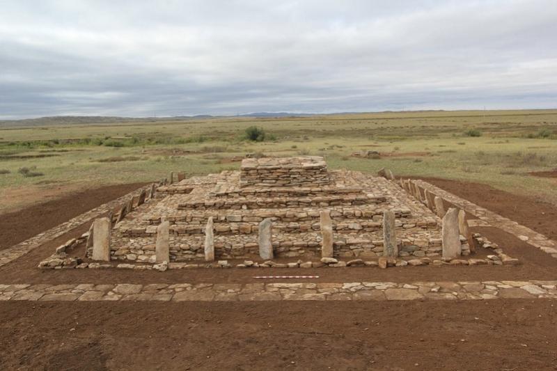 Қазақстанда 3000 жылдық тарихы бар пирамида қалпына келтірілді