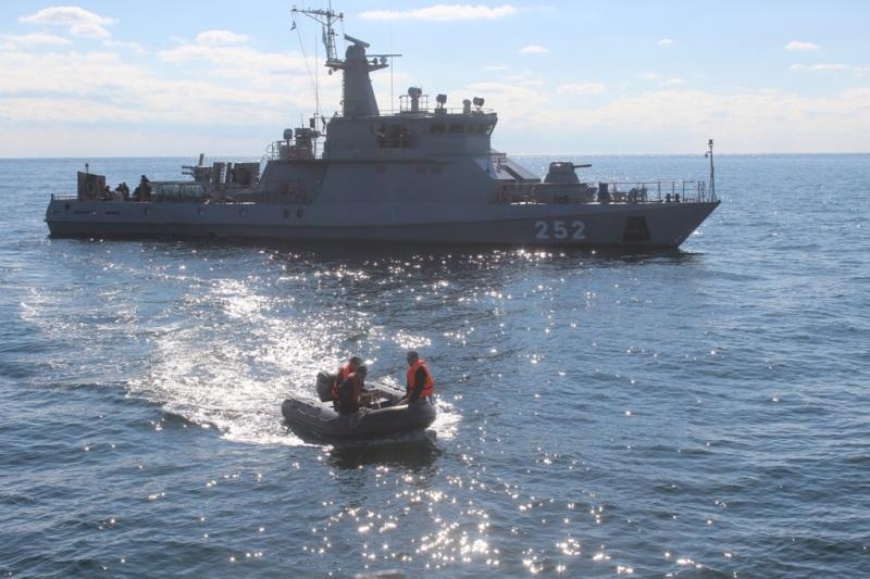 На Каспии боевую выучку прошли четыре корабля РК