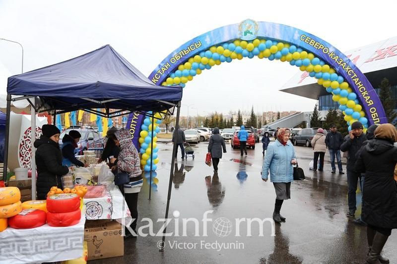 725 тонн сельхозпродукции привезли аграрии Северного Казахстана на ярмарку в Астану