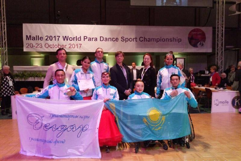 Казахстанцы блеснули в чемпионате мира по танцам на колясках