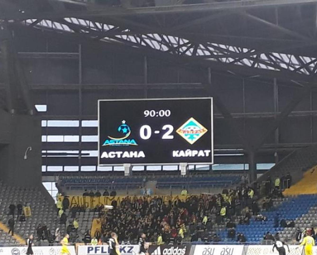 Чемпиондық бәсеке қыза түсті: «Астана» «Қайраттан» жеңіліп қалды
