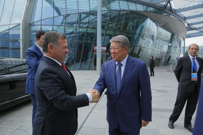 King of Jordan visits Nur Alem Museum in Astana