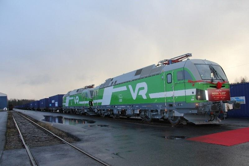 First container train starts from Finland through Kazakhstan to China