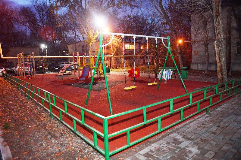 В Турксибском районе Алматы открываются новые дворовые площадки