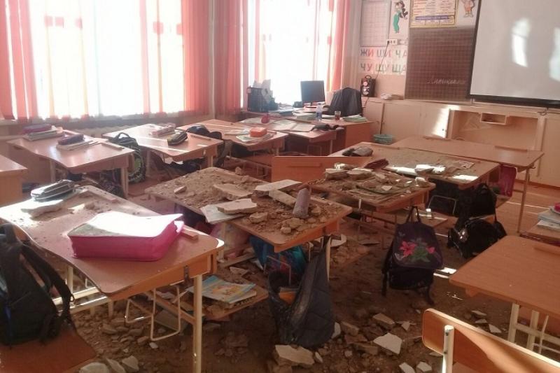 О состоянии пострадавших от обвала штукатурки учеников рассказали в ВКО