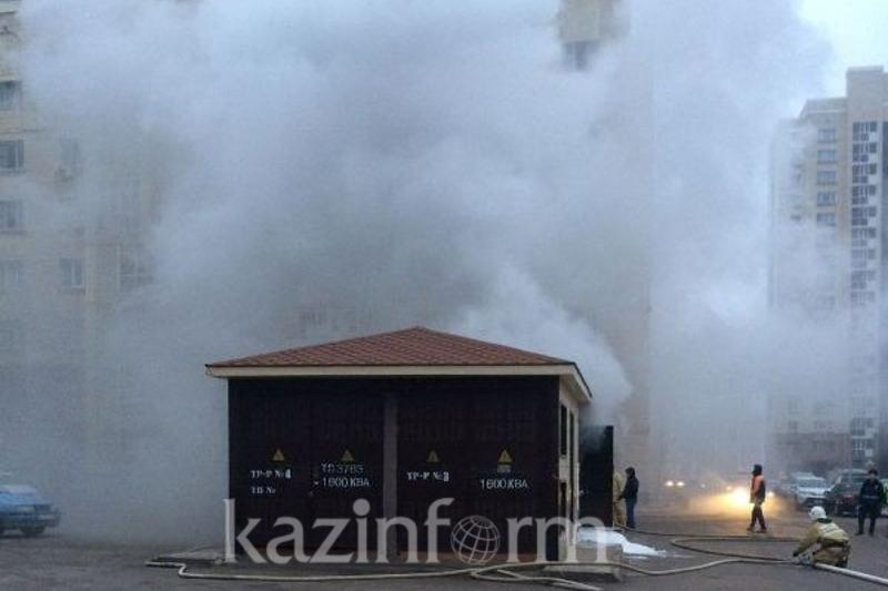 В крупном ЖК Астаны горела трансформаторная будка