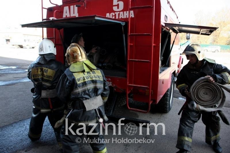 В Астане горел ЖК «Лазурный квартал»