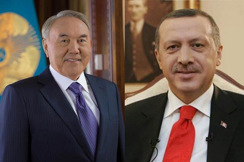 纳扎尔巴耶夫总统与土耳其总统埃尔多安通电话