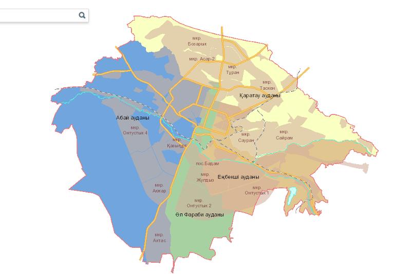 Создана инвестиционная карта генплана Шымкента