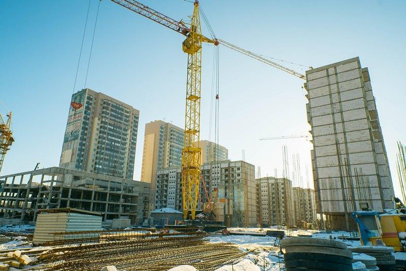 Объем строительных работ в Казахстане в 2017 году увеличился на 1,9%