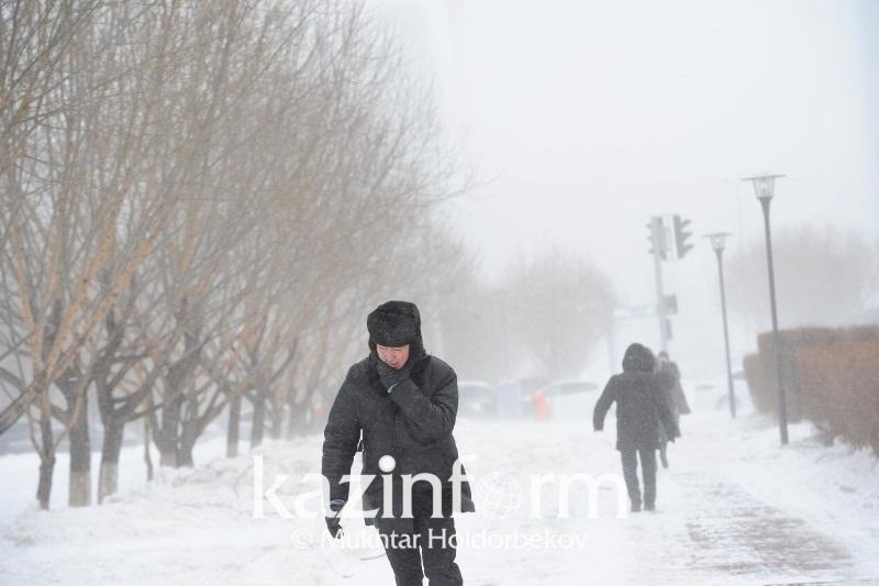 Туманы и метели ожидаются в Казахстане 7 февраля