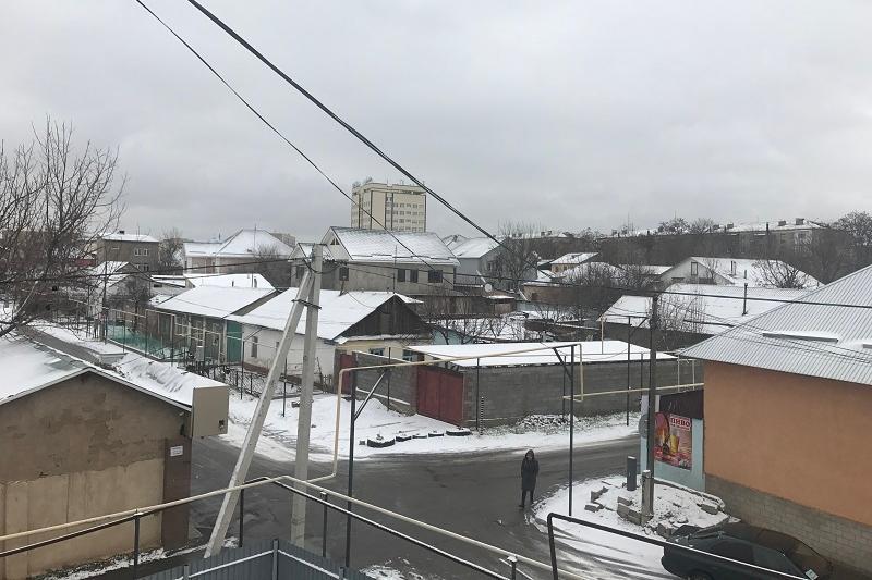Снег выпал в Шымкенте