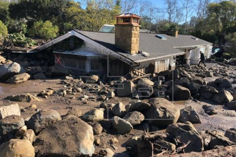 Death toll from California mudslides climbs to at least 17