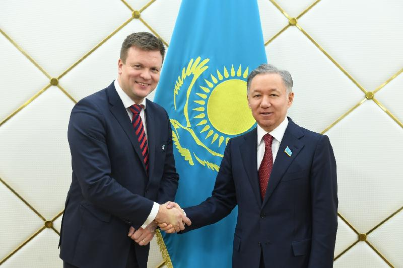 Kazakh Majilis Speaker, Finnish MPs discuss President's State-of-the-Nation Address