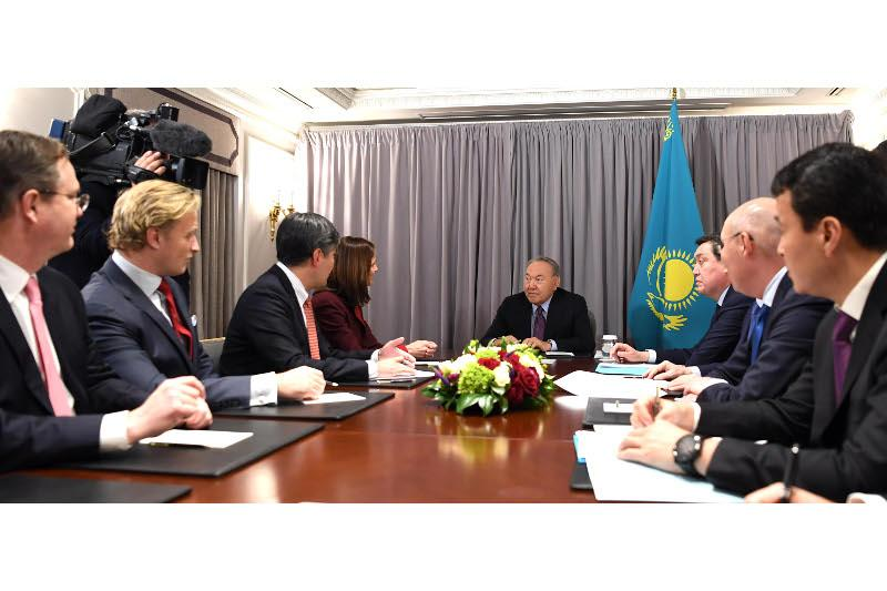 Президент Казахстана в Нью-Йорке встретился с руководителями крупных компаний