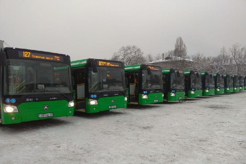 Алматыда Евро-5 стандартындағы тағы 12 автобус жолға шықты