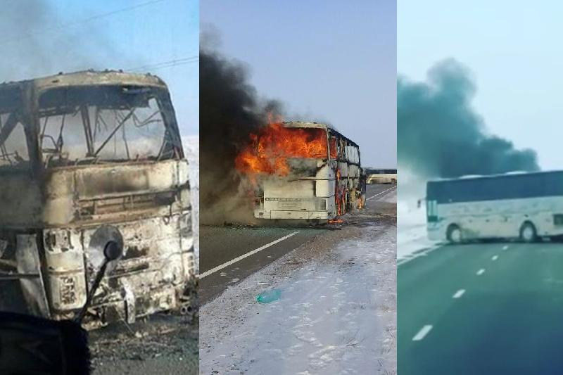 Сгоревший в Актюбинской области автобус был заказным