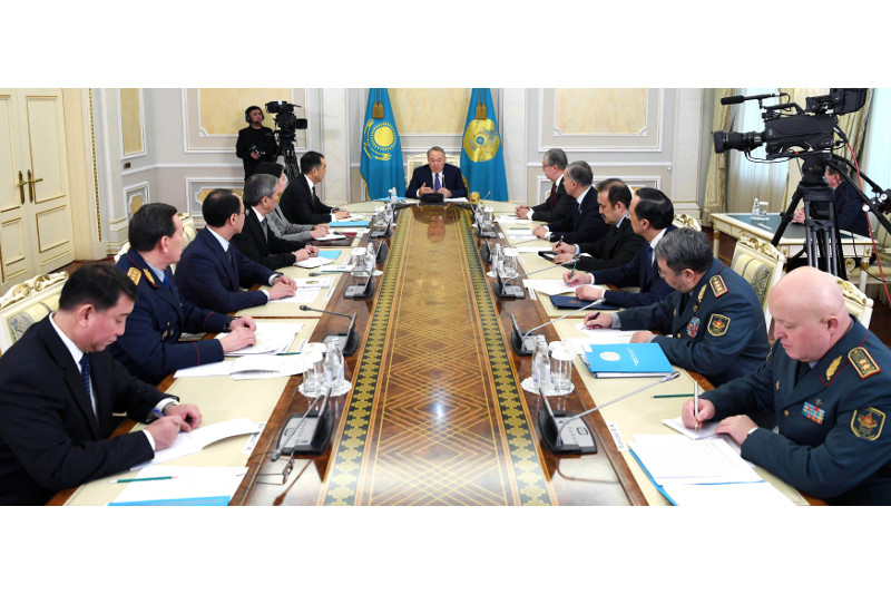 President Nazarbayev chairs Security Council session