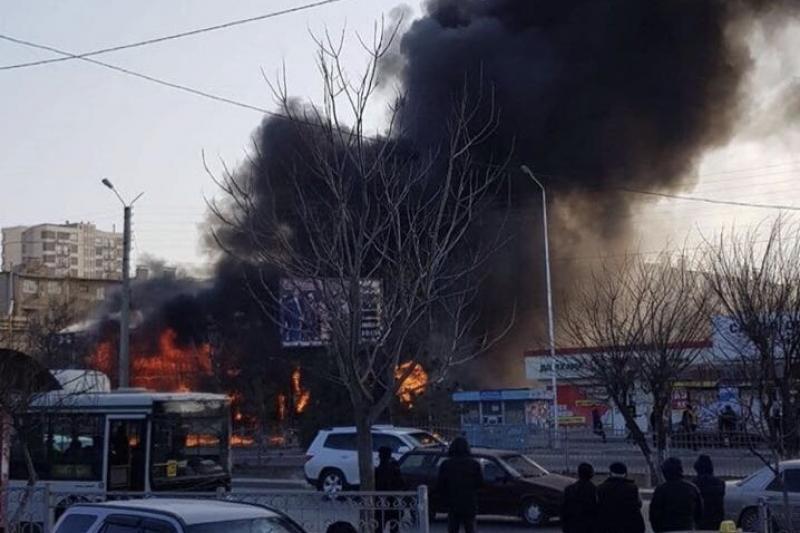 В Шымкенте дотла сгорел ресторан