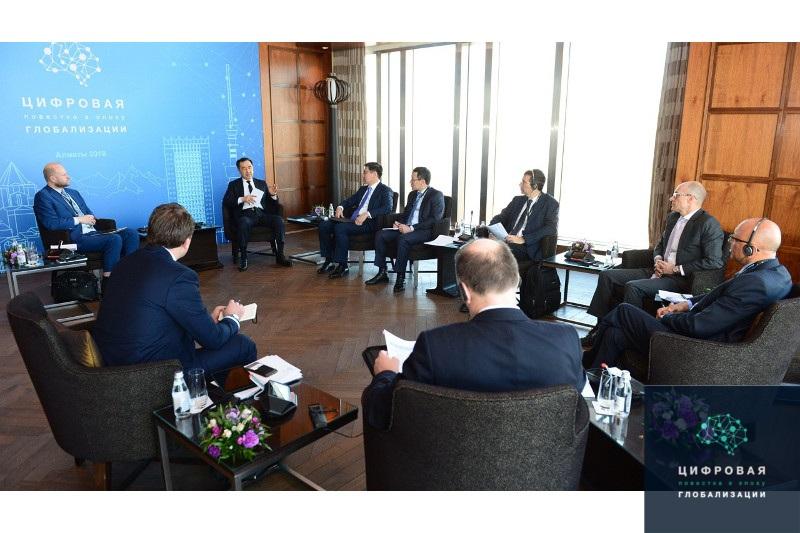 Бакытжан Сагинтаев встретился с главами крупнейших мировых IT-компаний