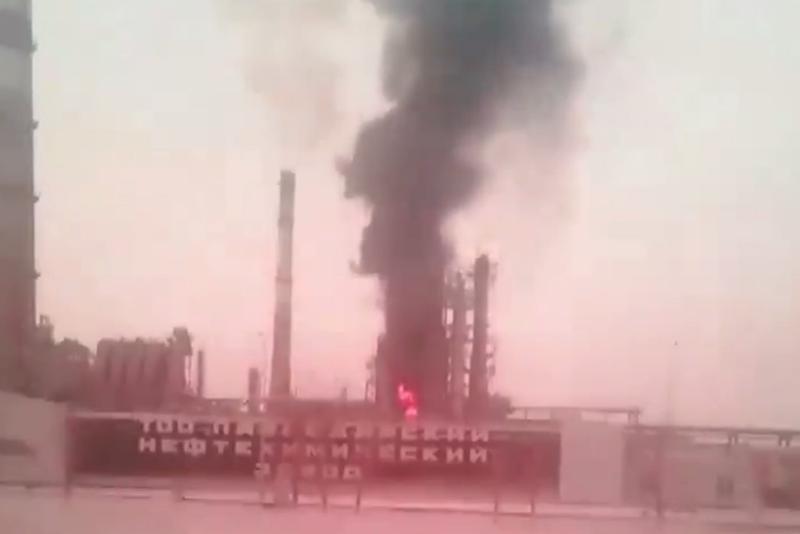 Возгорание произошло на Павлодарском НПЗ