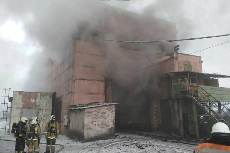 Пожар произошел на ТЭЦ в Темиртау