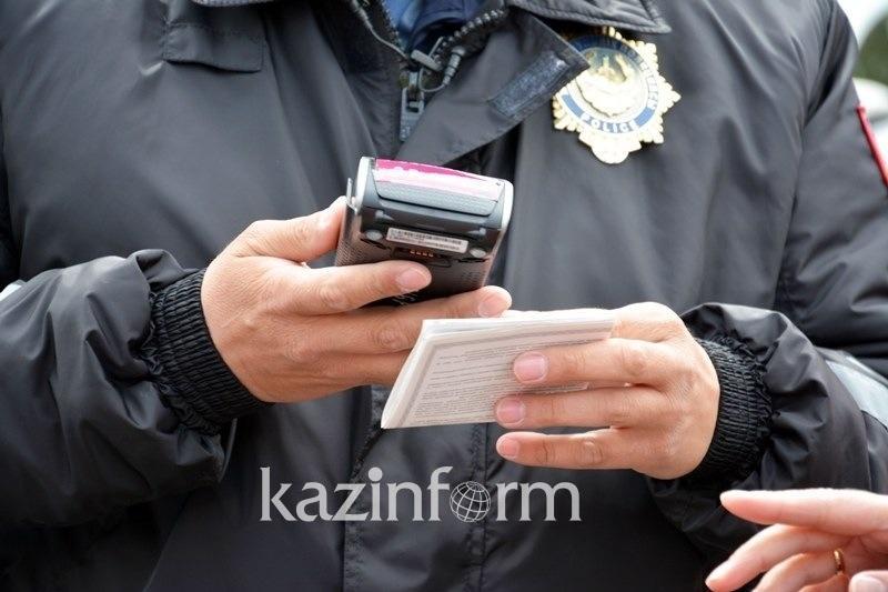 В Павлодаре трижды за день оштрафовали водителя из Алматинской области