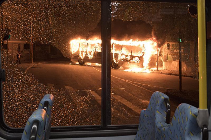 Рейсовый автобус горел в Акмолинской области