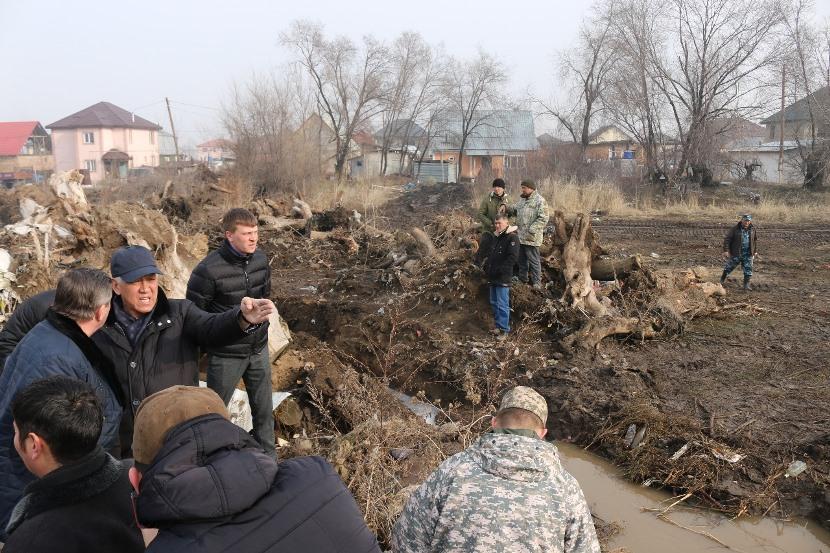 Комиссия оценит ущерб от паводков в селе Туздыбастау Алматинской области