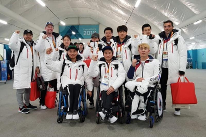 South Korean athletes arrive for PyeongChang Winter Paralympics