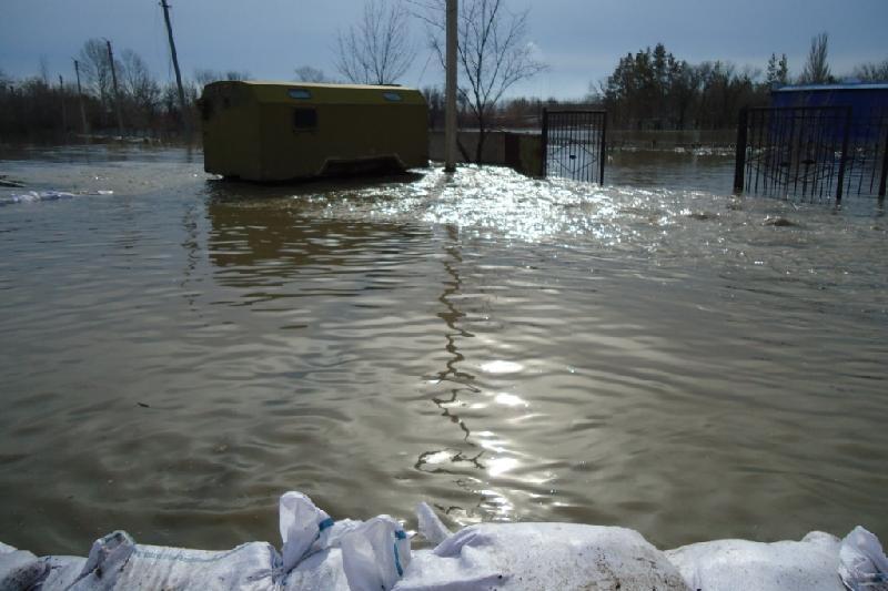 Водную стихию остановили в Рыскуловском районе Жамбылской области