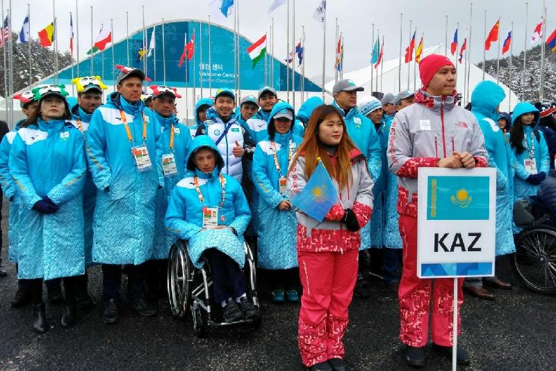 Kazakh flag raised in PyeongChang Paralympic village