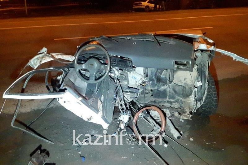 Водитель пострадавшего в ДТП в Алматы авто родился «в рубашке»