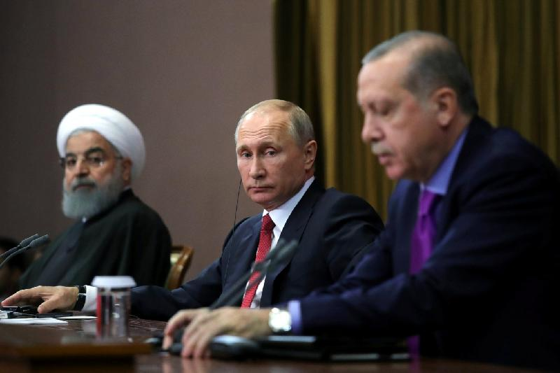 Russian, Iranian, Turkish presidents to discuss Syrian settlement on April 4