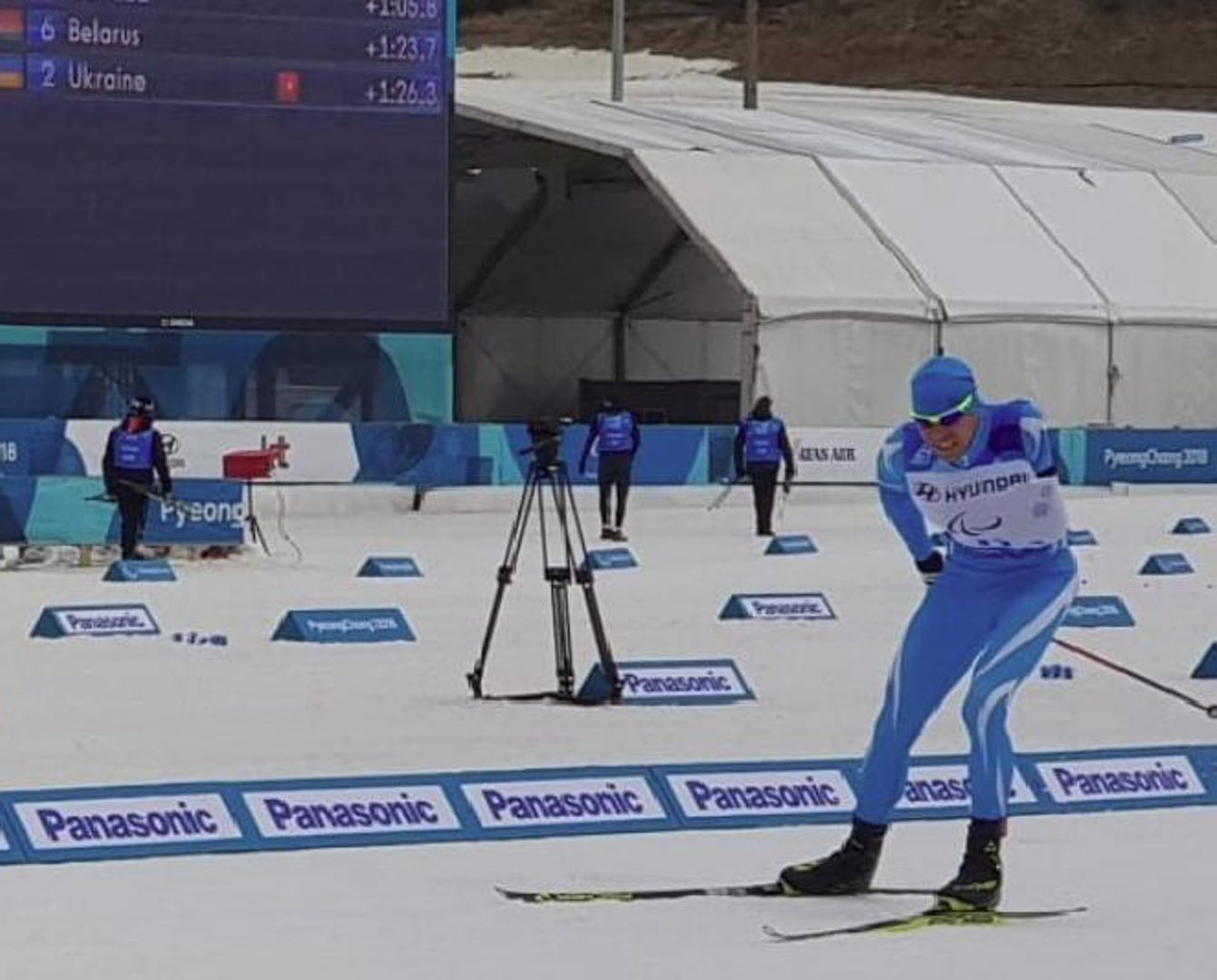 2018 Winter Paralympics: 'Great Kazakh trio' sixth in 4x2.5km Open Relay