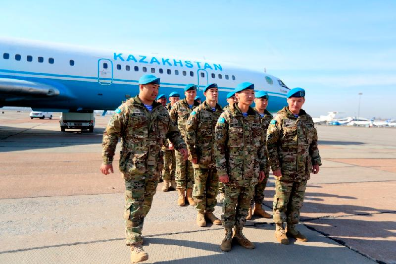 Kazakh peacekeepers to study experience of Indian colleagues