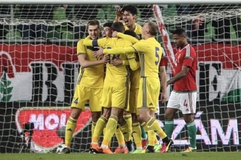 足球:哈萨克斯坦国家队客胜匈牙利