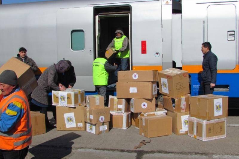 Семейге 1 вагон гуманитарлық көмек келді