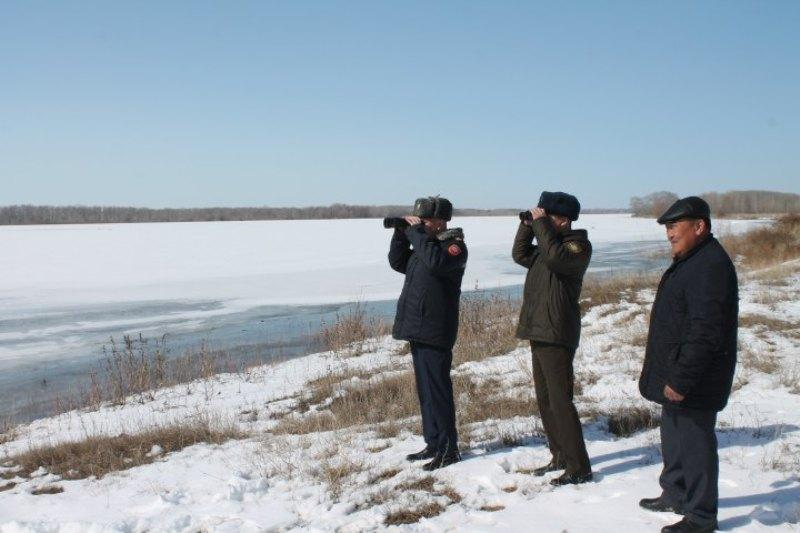 Активное разрушение льда на реке Иртыш началось в Павлодарской области