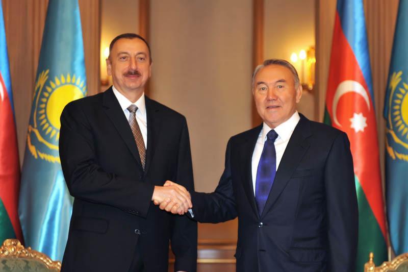 Nursultan Nazarbayev congratulates Ilham Aliyev on his re-election as president of Azerbaijan