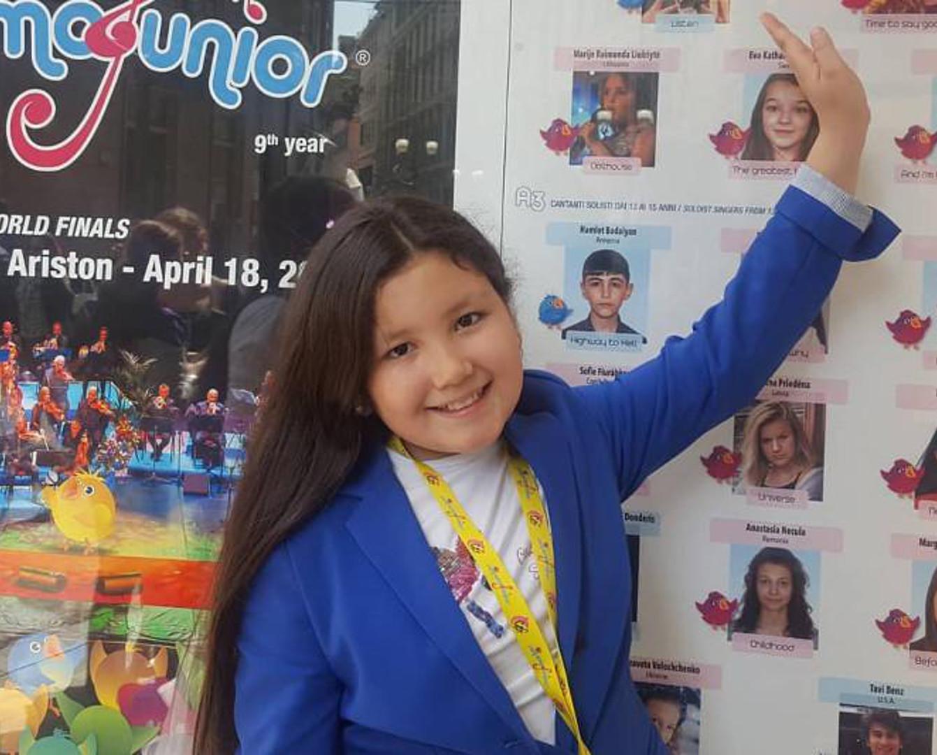 10-летняя алматинка стала лауреатом фестиваля в Сан-Ремо
